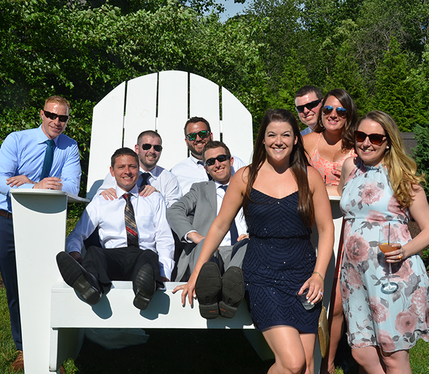 Giant Adirondack chair for wedding