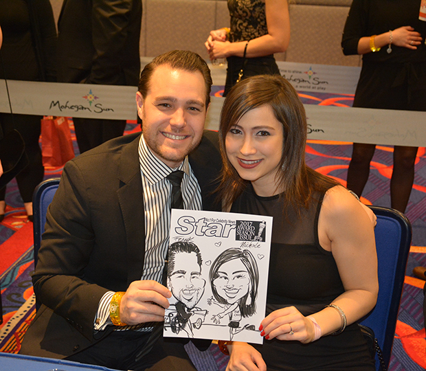 Caricature artist at special event