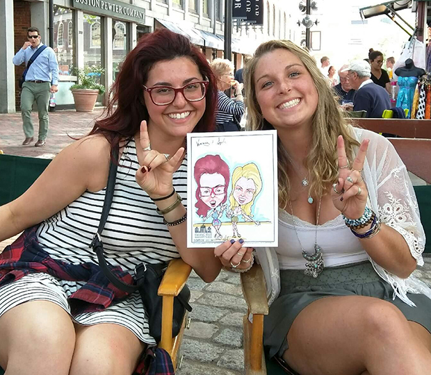 Caricature in Boston, MA