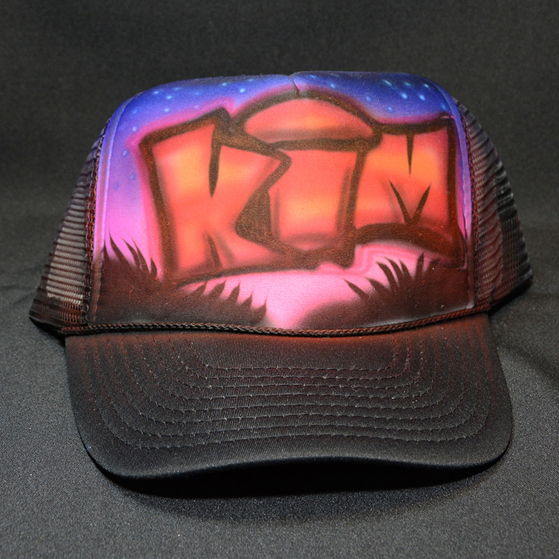 airbrush trucker hats
