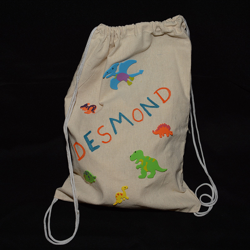 decorate your own drawstring bags