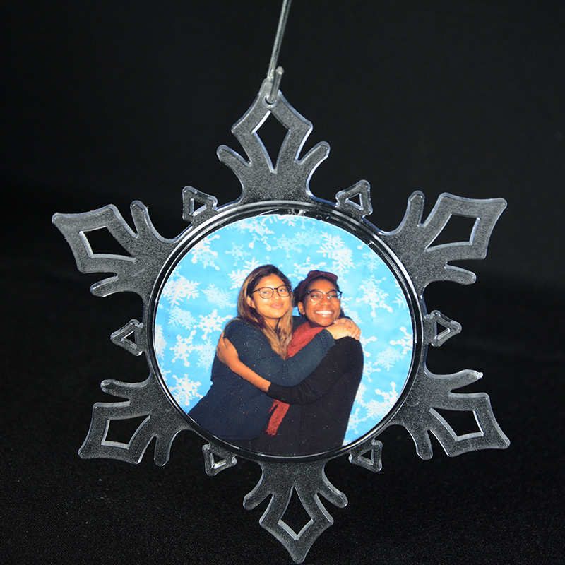 Personalized Photo Snowflake Ornament