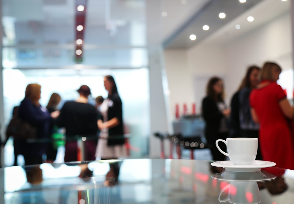 networking over coffee at conferences