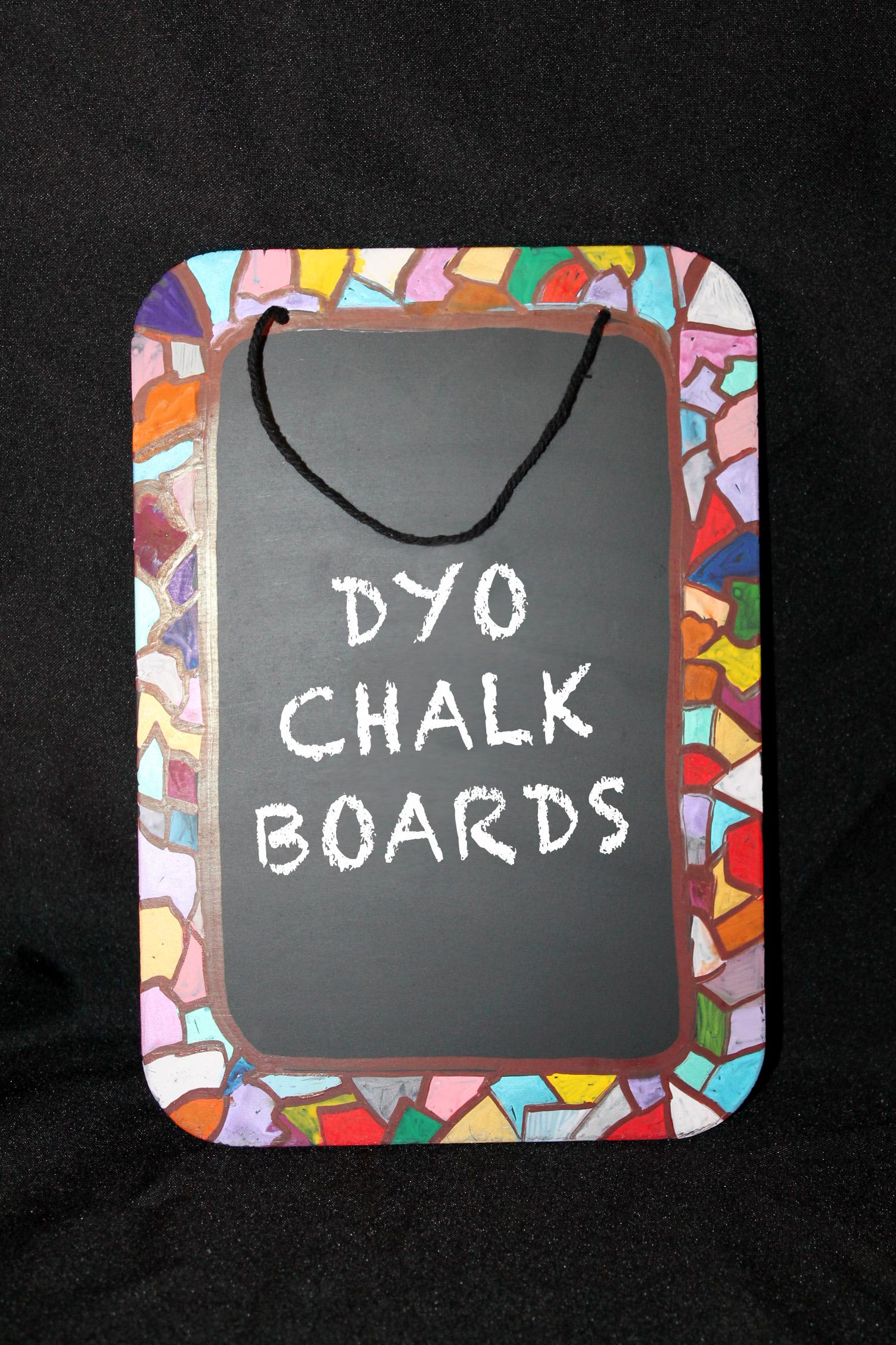 make your own chalk board