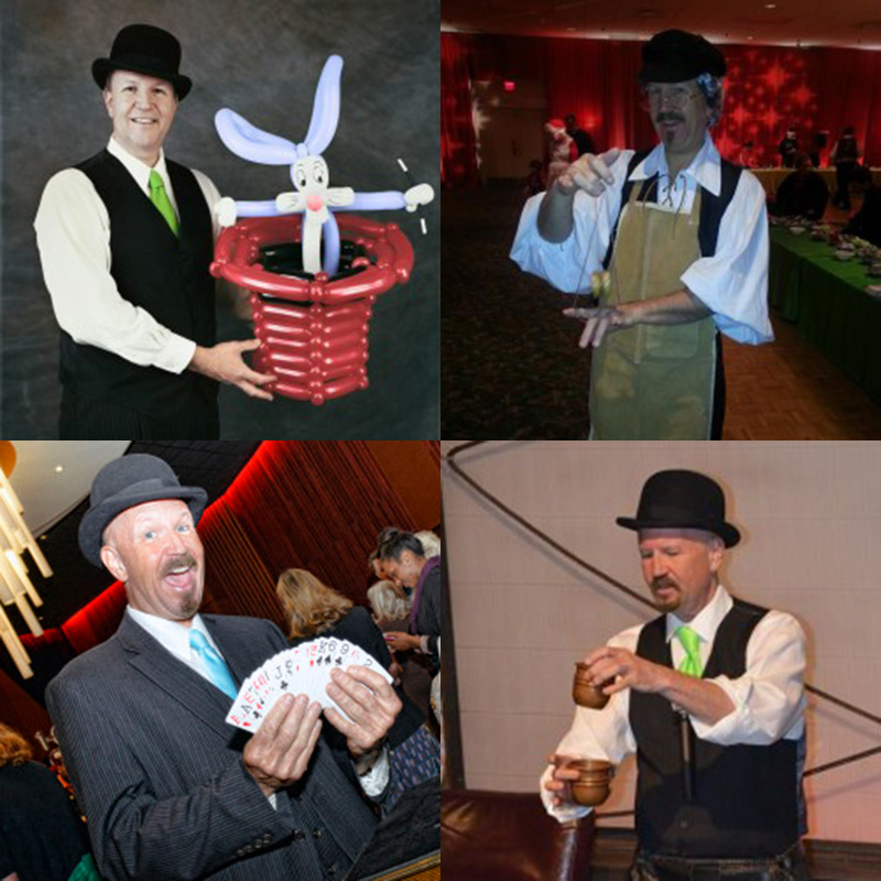 magicians and balloon artists for parties