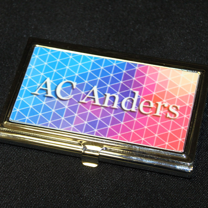 Personalized business card holder