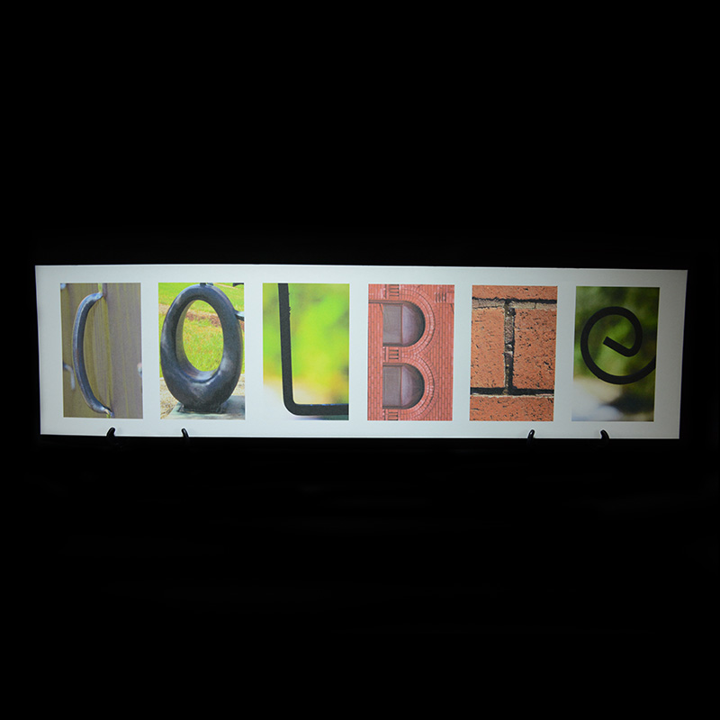 personalized letter art