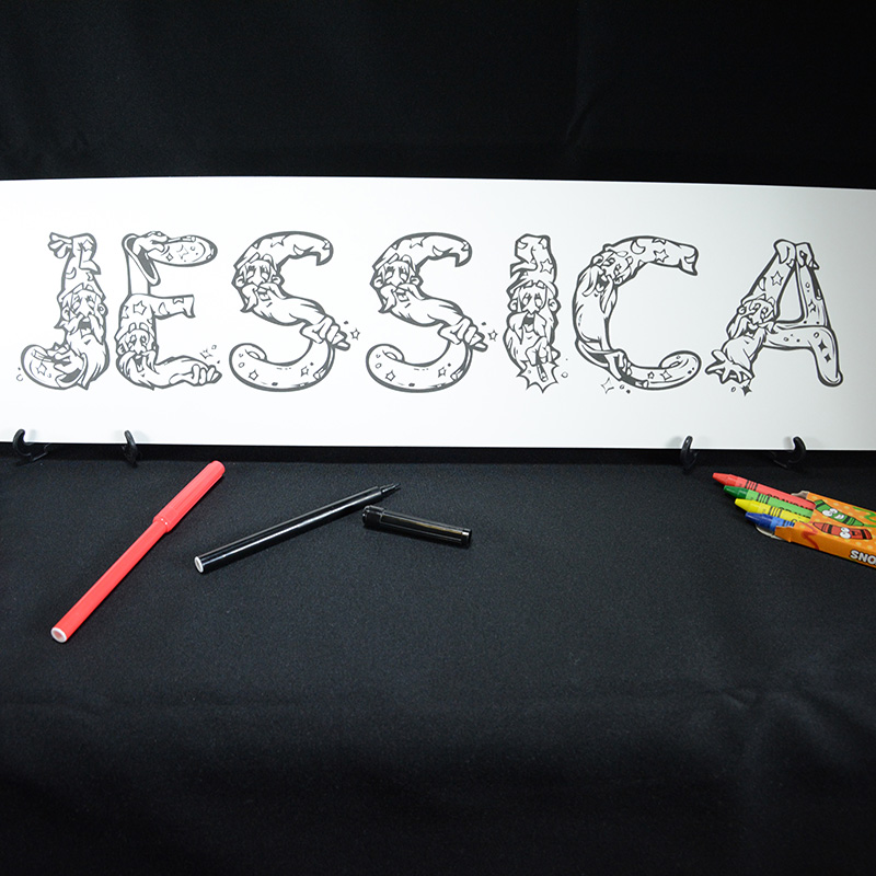 personalized name coloring sheet