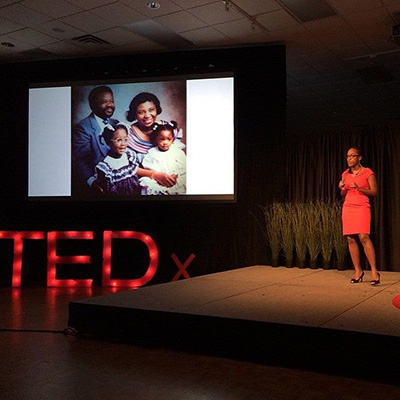 Anna Marfo at a TED Talk