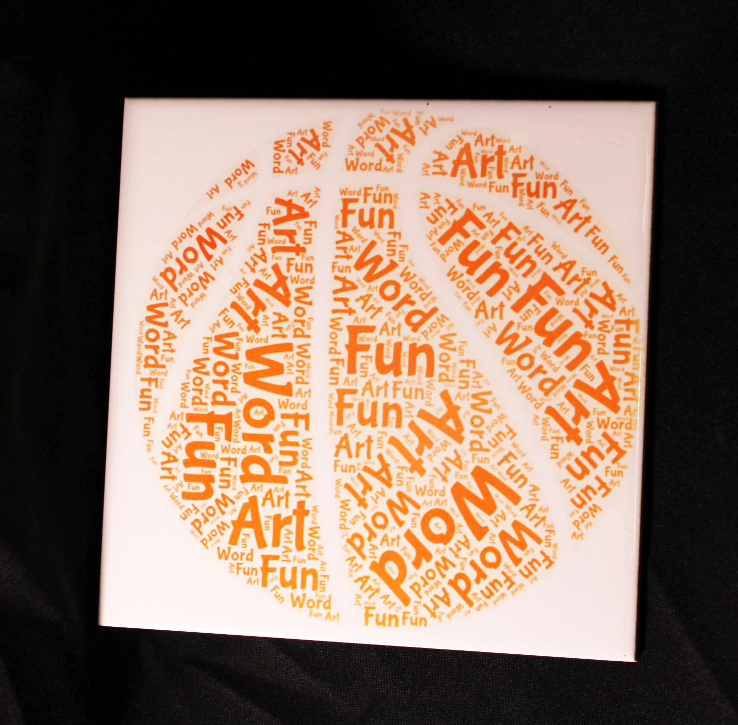 personalized word art tiles