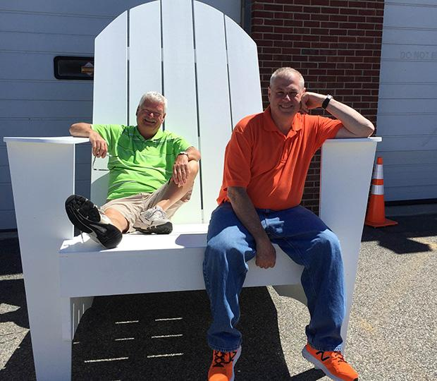 Giant Adirondack chair for party rentals