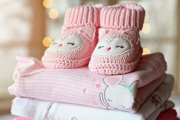 baby booties and onesies